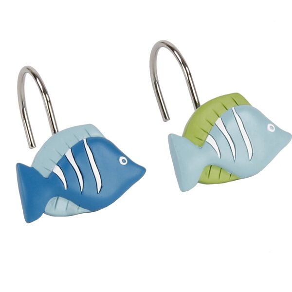 Pina Shower Curtain Hooks (Set of 12) by Bay Isle Home