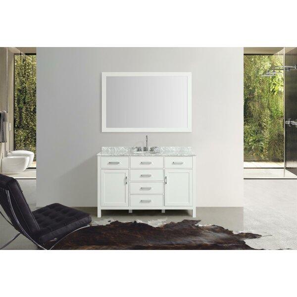 Weatherford 55 Single Bathroom Vanity Set with Mirror by Orren Ellis