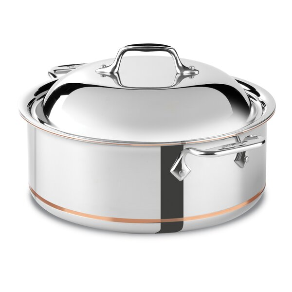 Copper Core 6-qt. Stainless Steel Round Roaster Braiser with Lid by All-Clad