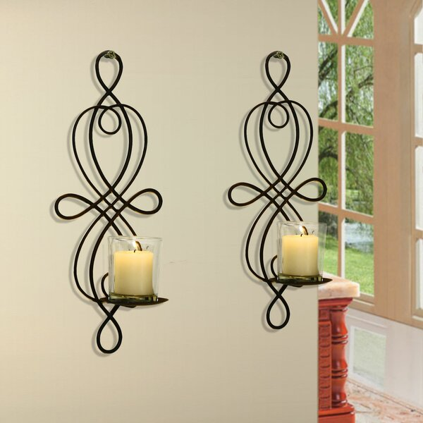Scroll Iron Sconce Set (Set of 2) by Red Barrel Studio