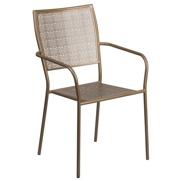 Karoline Stacking Patio Dining Chair by Zipcode Design