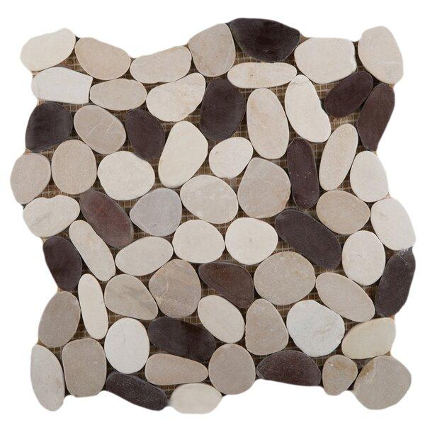 Flat Venetian Pebbles 12 x 12 Mosaic Tile in Gelato Blend by Emser Tile