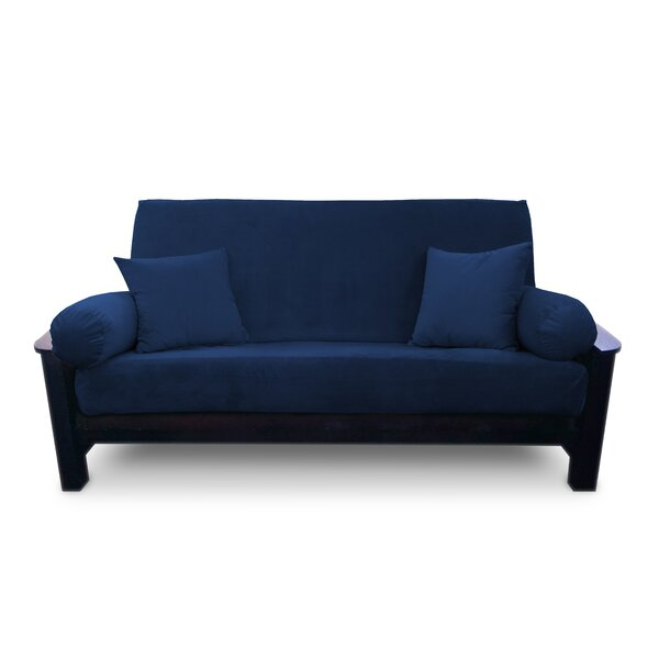 Simoes Solid Box Cushion Futon Slipcover by Latitude Run