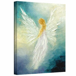 Angel by Marina Petro Painting Print on Wrapped Canvas by ArtWall