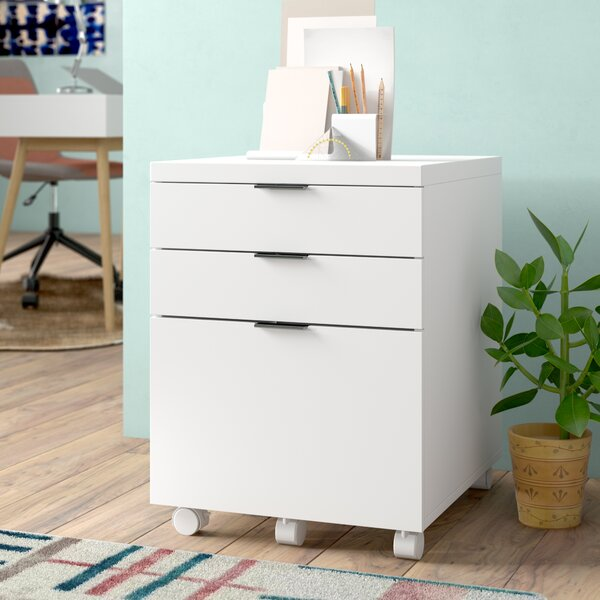Mcgrady 3 Drawer Mobile Backert Filing Cabinet by Wade Logan
