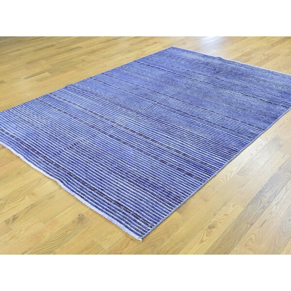 One-of-a-Kind Becker Handwoven Purple Wool Area Rug by Isabelline