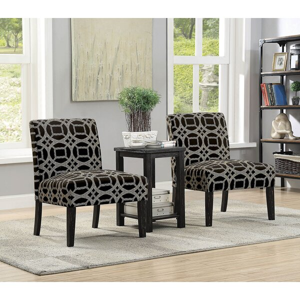 Abe 3 Piece Armchair and End Table Set by Bloomsbury Market