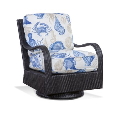 Brighton Pointe Swivel Rocking Chair with Cushions Braxton Culler Fabric: 6358-84