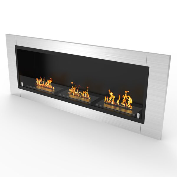 Kelling Ventless Recessed Wall Mounted Bio-Ethanol Fireplace By Latitude Run