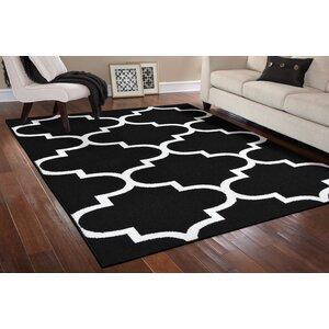 Large Quatrefoil Black/White Area Rug