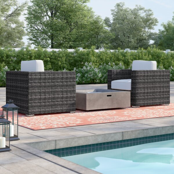 Wabbaseka 3 Pieces Multiple Chairs Seating Group With Cushions By Sol 72 Outdoor by Sol 72 Outdoor Sale