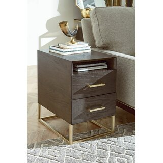 Ansel Charging End Table with Storage by Ivy Bronx SKU:AA665169 Price Compare