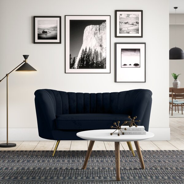 Canh Chesterfield Loveseat by Everly Quinn