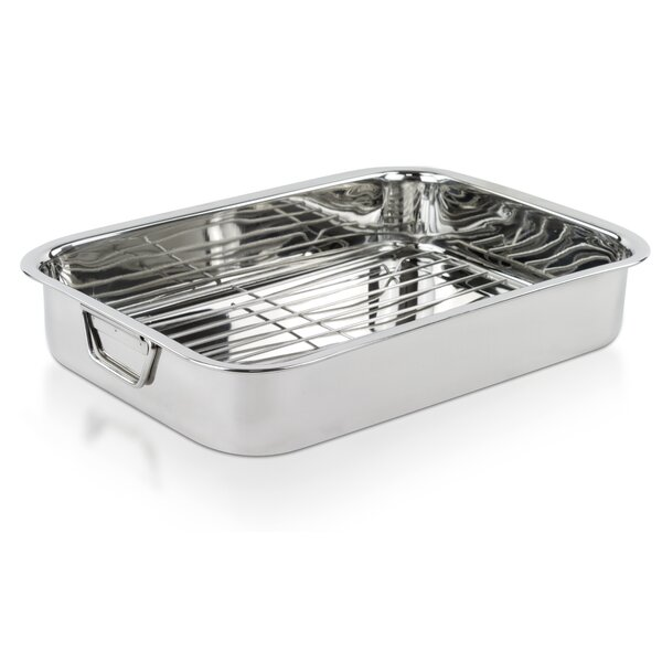 16 Stainless Steel Heavy Duty Roasting Pan with Rack by Imperial Home