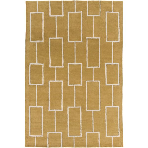 Aldred Hand-Tufted Tan/Khaki Area Rug by Corrigan Studio