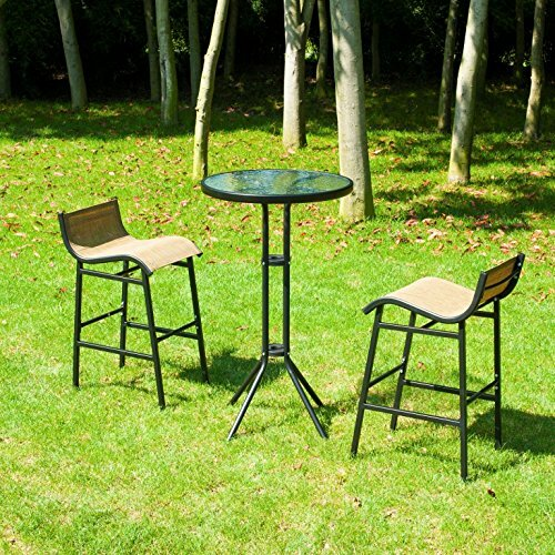 Dowdy Outdoor 3 Piece Bistro Set by Ebern Designs