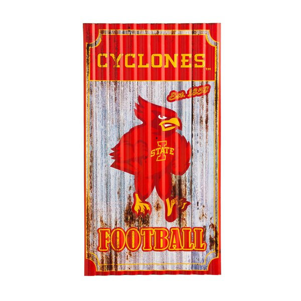 NCAA Corrugated Graphic Art Print on Metal by Team Sports America