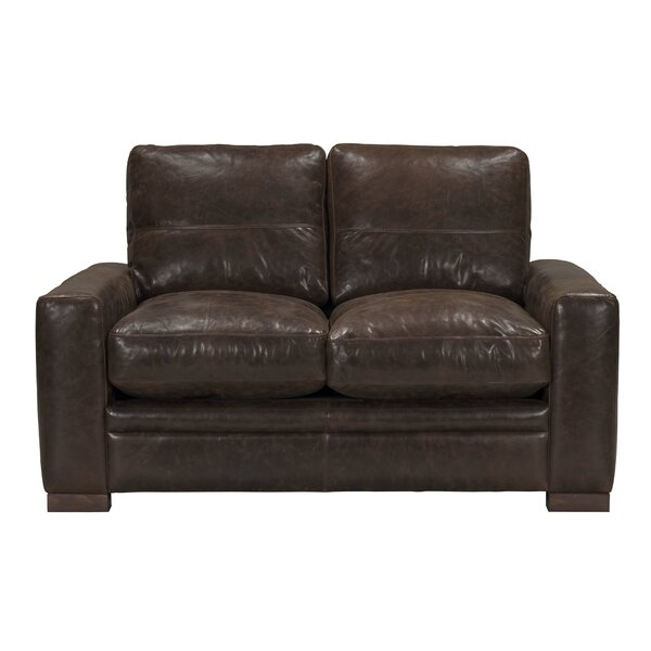 Bassham Top Grain Leather Loveseat by Darby Home Co