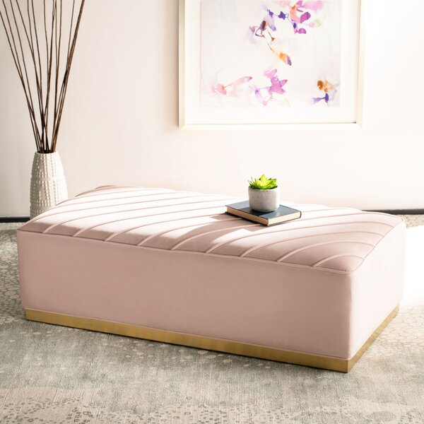 Maximiliano Diagonal Tufted Ottoman By Everly Quinn Amazing