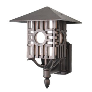 Affordable Price Penfield 1-Light Outdoor Sconce By Alcott Hill