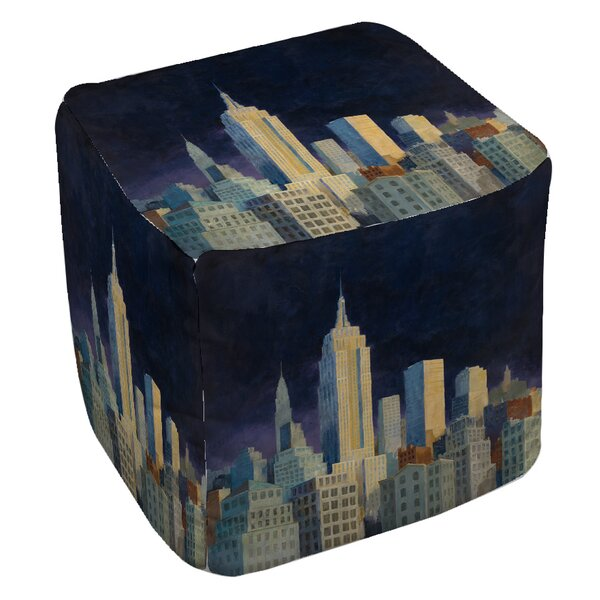 Midnight in Midtown Pouf by Manual Woodworkers & Weavers