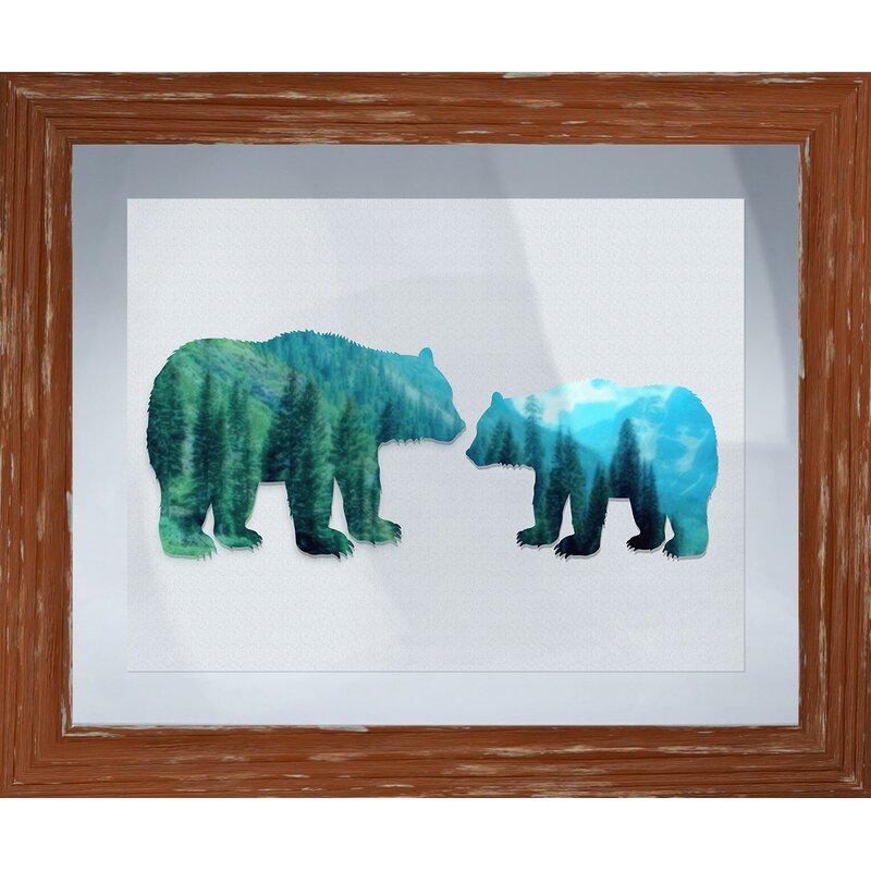 Mother Bear Framed Graphic Art