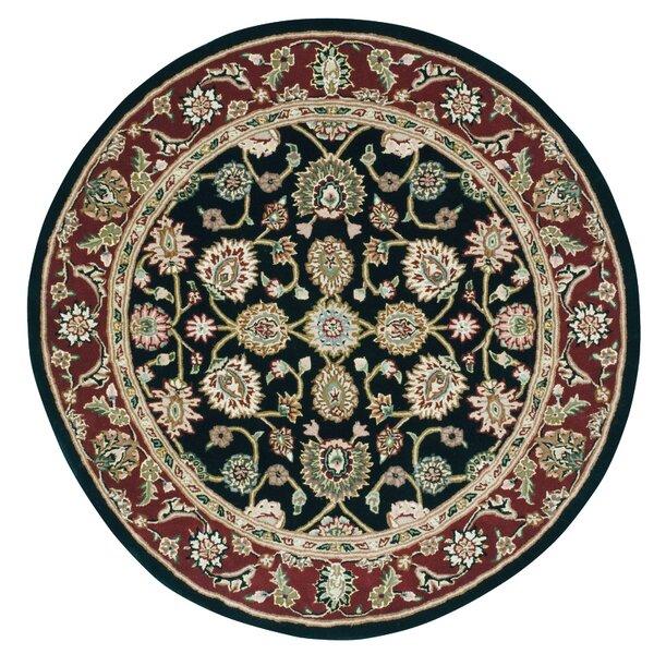 Ellerswick Hand-Tufted Wool Black/Brown Area Rug
