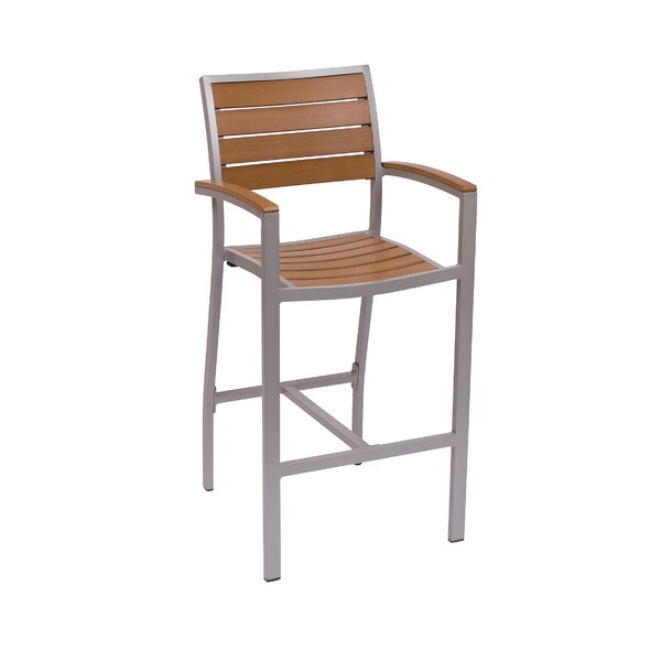 Largo 30 Teak Patio Bar Stool by BFM Seating