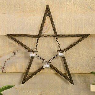 Star Wall Plaque & Metal Wall Art Candle Holder | Wayfair