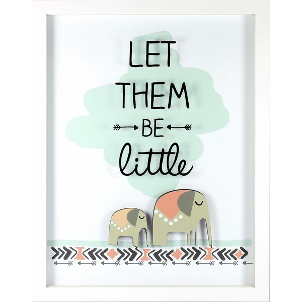Kieran Let Them Be Little Framed Paper Print by Harriet Bee