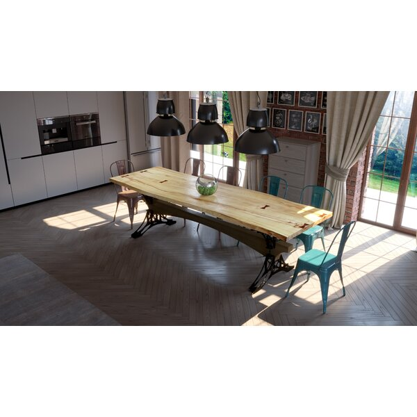 Steve Solid Wood Dining Table by 17 Stories 17 Stories