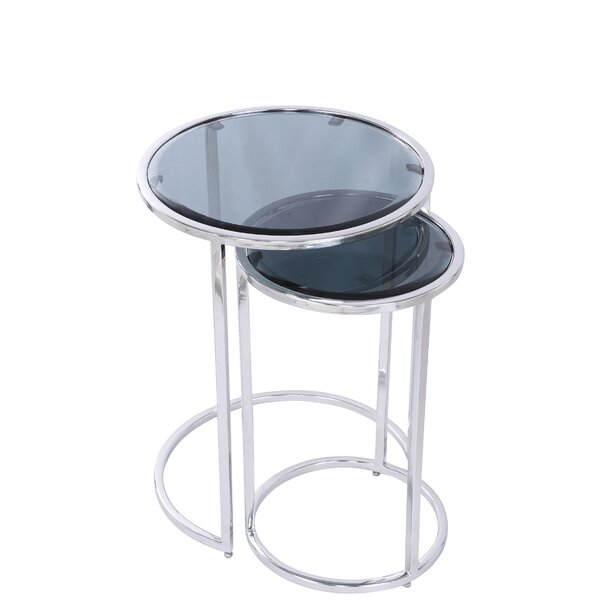 Bella Casandra 2 Piece Nesting Tables by Ivy Bronx Ivy Bronx
