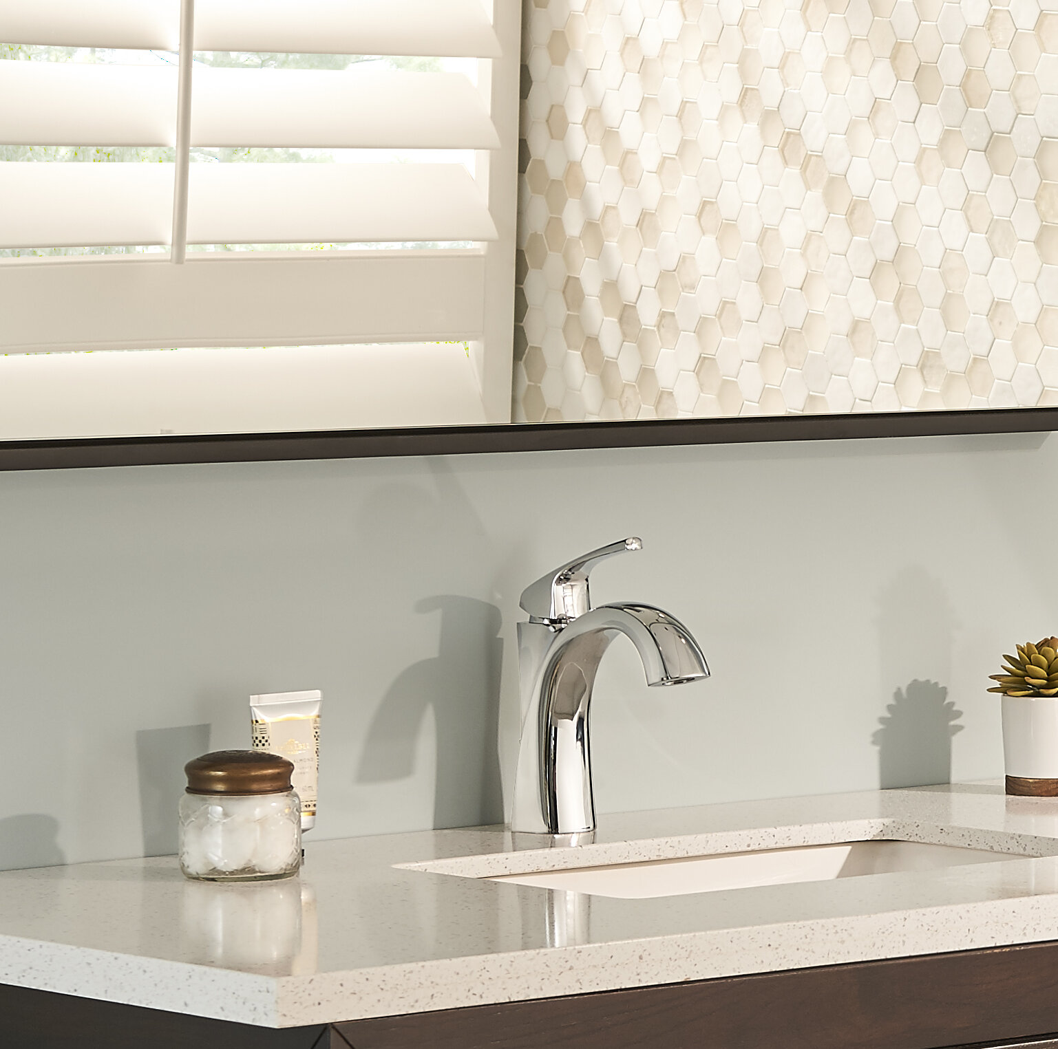 Danze Vaughn Single Hole Bathroom Faucet with Drain Assembly and ...