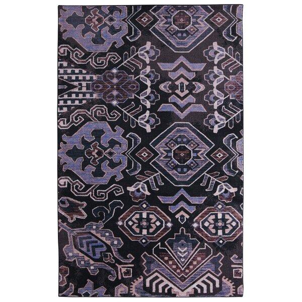 Dario Denim Purple/Gray Area Rug by Bungalow Rose