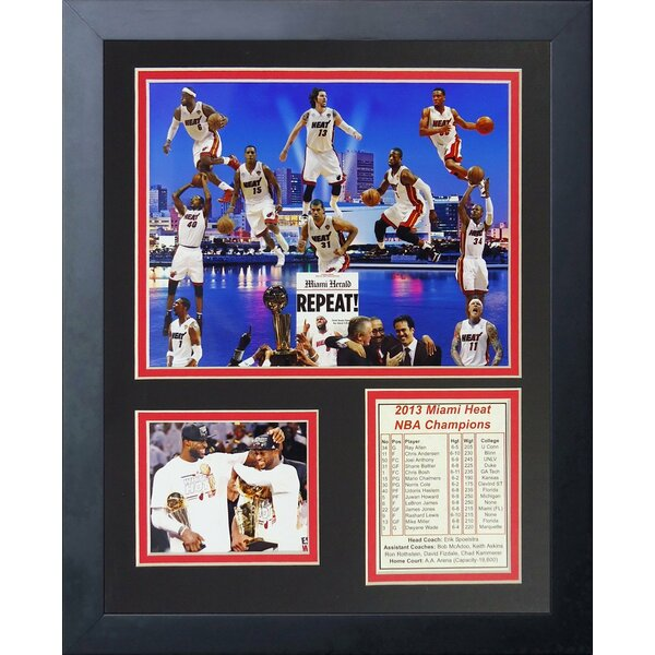 2013 Miami Heat NBA Champions Framed Memorabilia by Legends Never Die