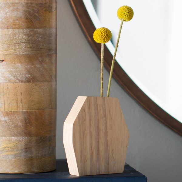 René Air Plant Holder Wood Pot Planter by Boyce Studio