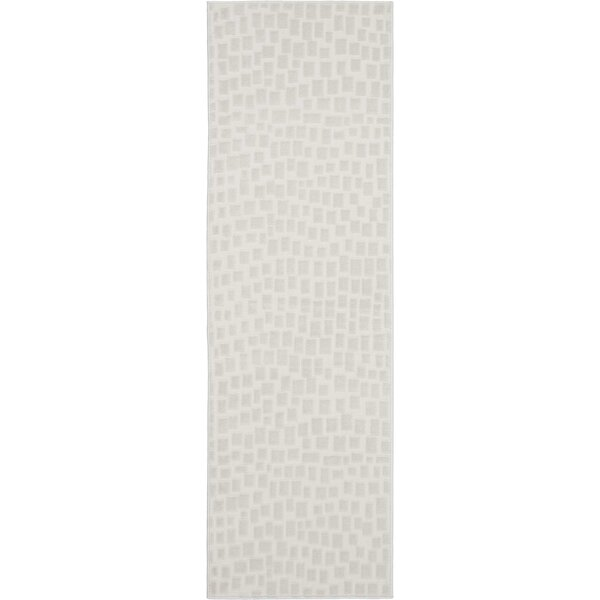 Burford Abstract Cream Area Rug by Ebern Designs
