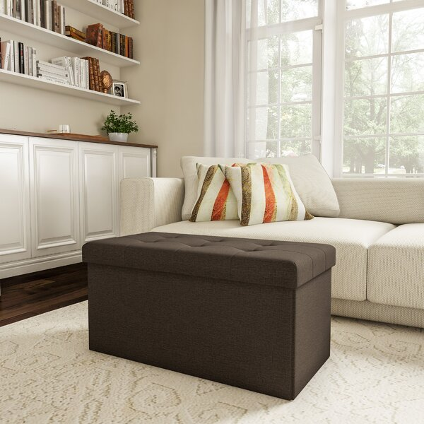 Charest Folding Tufted Storage Ottoman by Charlton Home