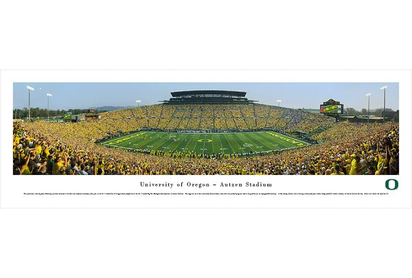 NCAA Oregon, University of - 50 Yard Day by James Blakeway Photographic Print by Blakeway Worldwide Panoramas, Inc