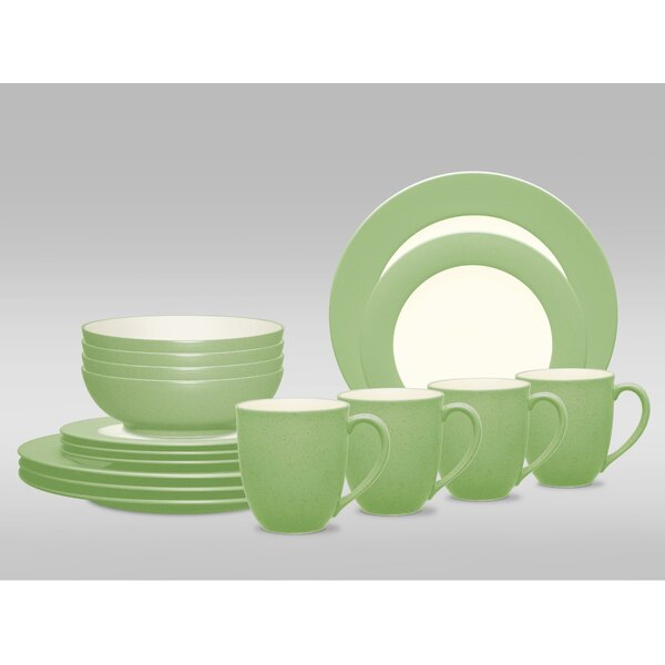Colorwave Rim 16 Piece Dinnerware Set, Service for 4 by Noritake