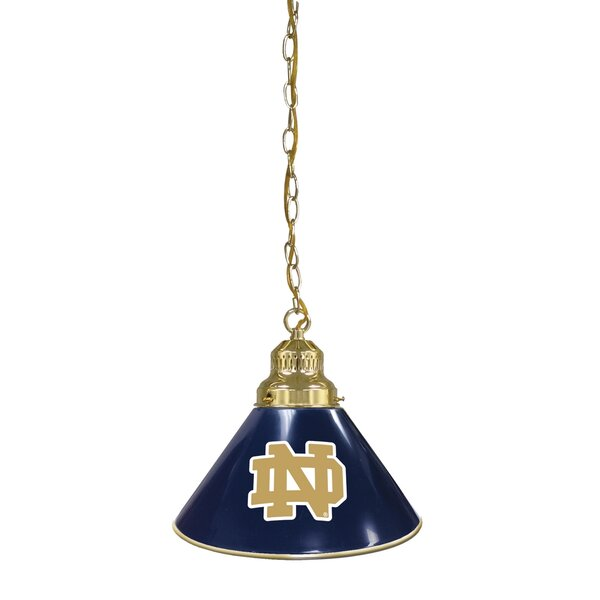 NCAA 1-Light Cone Pendant by Holland Bar Stool