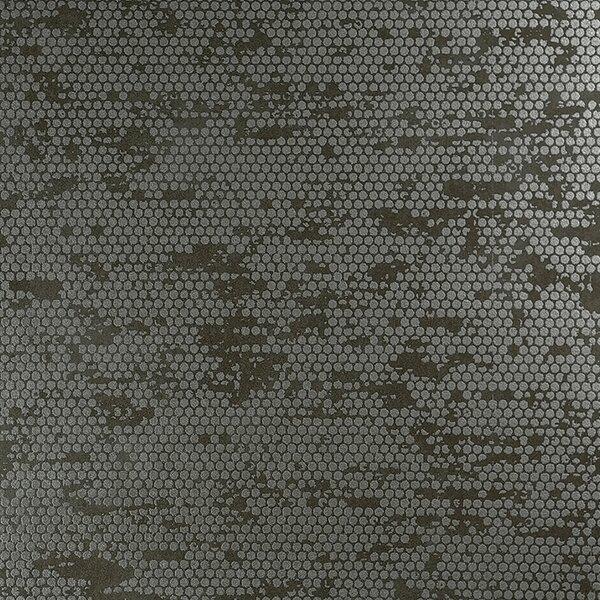 Chic Glamorous Rustic Metallic 27.5 x 27.5 Polka dot Wallpaper by Walls Republic