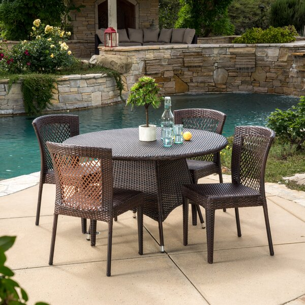 Yuliana 5 Piece Dining Set by Wade Logan