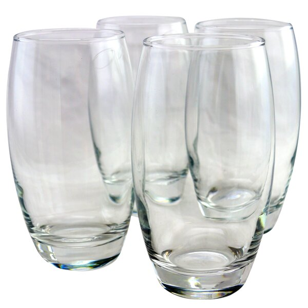 Tyson 17 oz. Glass Every Day Glass (Set of 4) by Charlton Home
