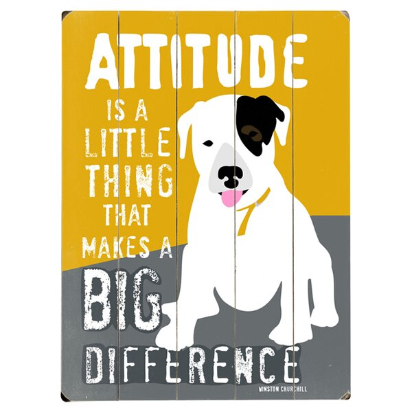 Attitude Graphic Art Print Multi-Piece Image on Wood by Artehouse LLC