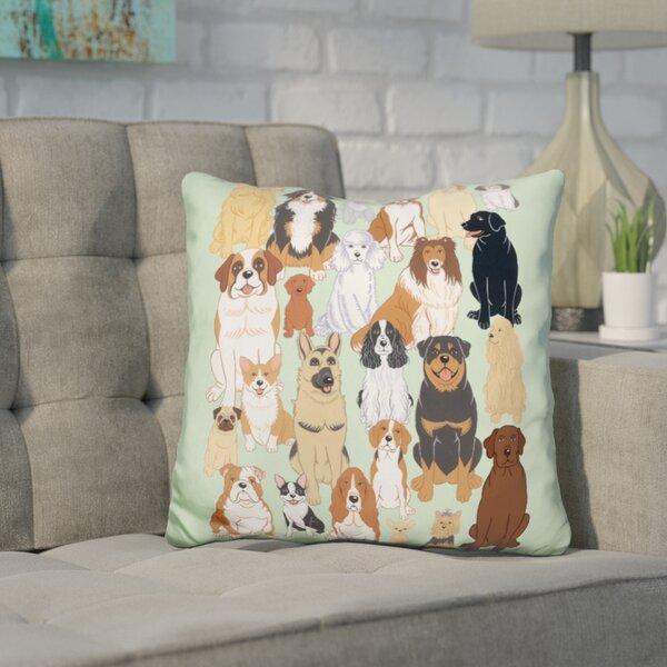 Corinthian Dog Throw Pillow by Wrought Studio