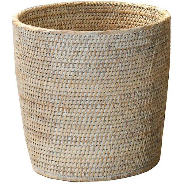 Efren Rattan Open Waste Basket by Mistana