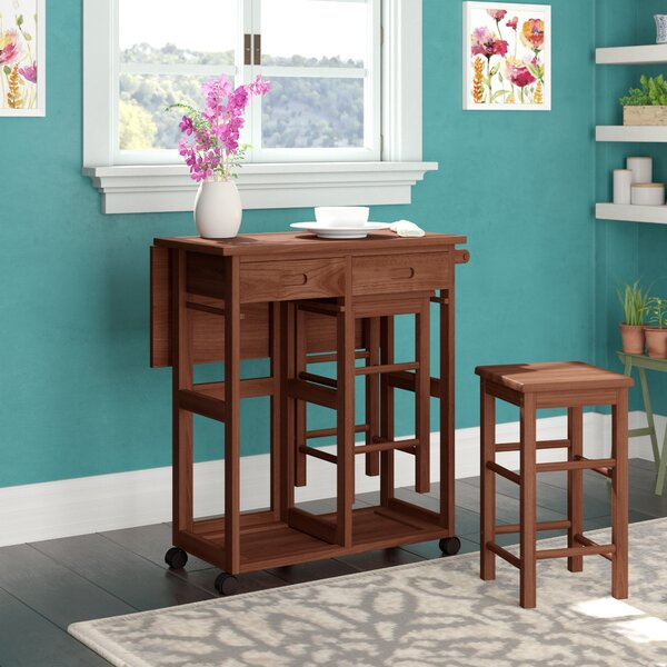 Callaghan 3 Piece Drop Leaf Dining Set by Winston Porter