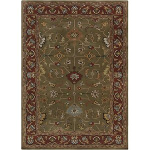 Bartz Green/Red Area Rug