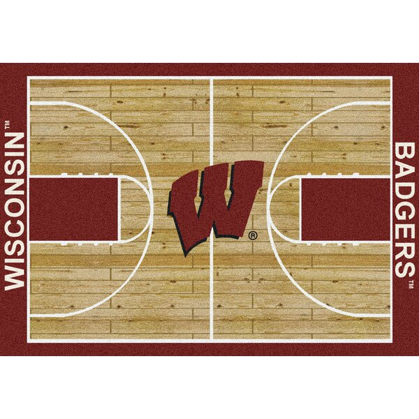NCAA College Home Court Wisconsin Novelty Rug by My Team by Milliken